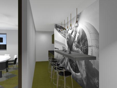 Interieur kantoor Schiphol